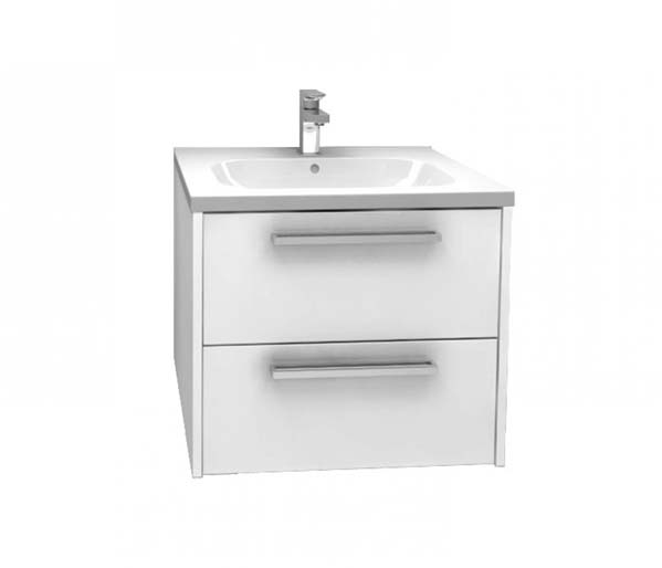 Arco Vanity Unit 600x455mm Gloss White