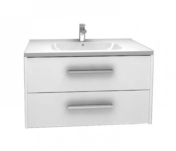 Arco Vanity Unit 900x455mm Gloss White