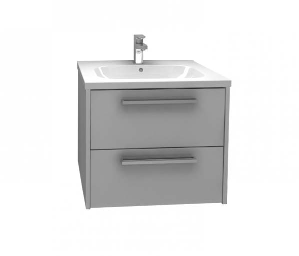 Arco Vanity Unit 600x455mm Grey Gloss