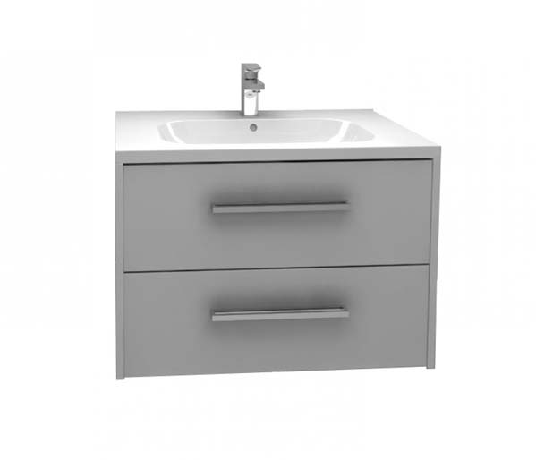 Arco Vanity Unit 750x455 Grey Gloss
