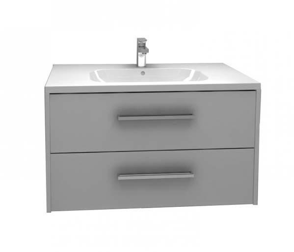 Arco Vanity Unit 900x455 Grey Gloss