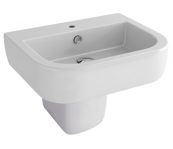 Essence Basin with Semi Pedestal 560x450mm