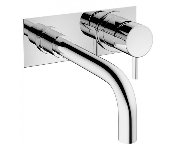 Crosswater Mpro Basin Wall Set (With Plate)
