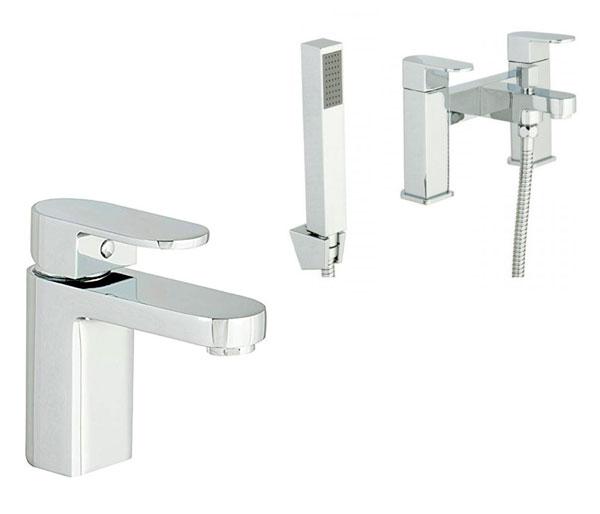 Gento Bathroom Tap Set ( Basin & Bath Mixer)