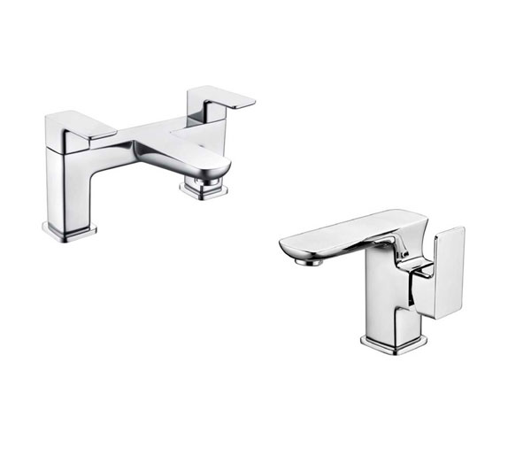 Dima Bathroom Tap Set ( Basin & Bath Filler)