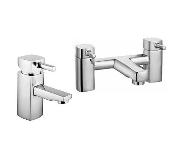 Qbex Modern Tap Set ( Basin & Bath Filler)