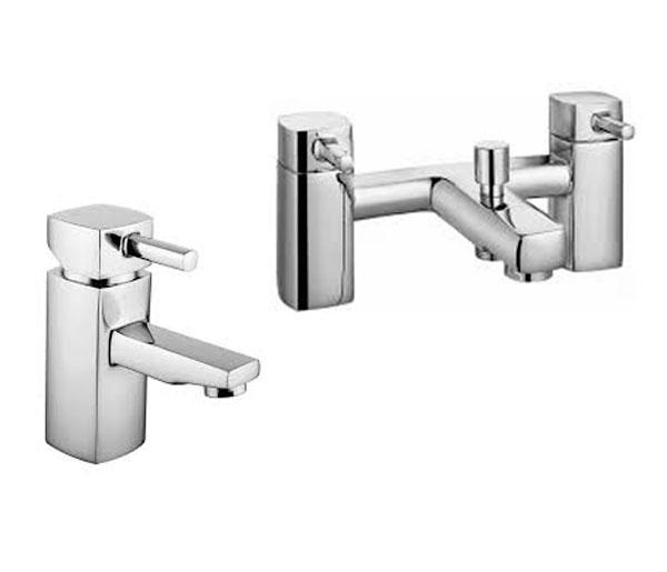 Qbex Modern Tap Set ( Basin & Bath Mixer)