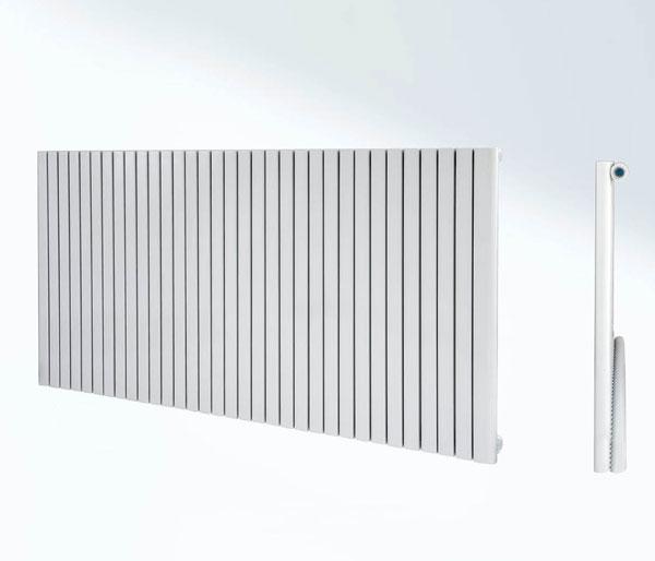Aquila White Horizontal Radiator 600Hx1000W