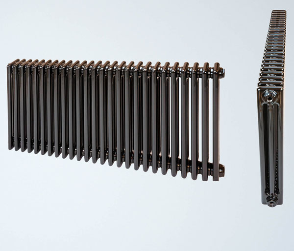 Shiva Black Horizontal Radiator 600Hx598W