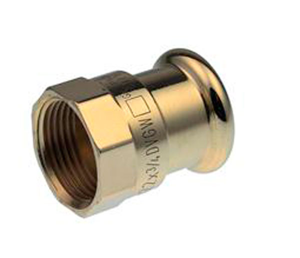 Xpress Female Crimp Coupling  15mmX3/8\