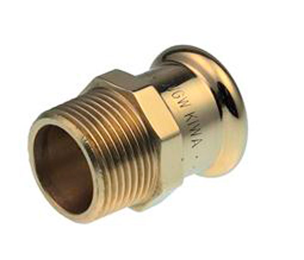 Xpress Male Crimp Coupling  15mmX3/8\